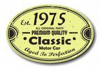 Distressed Aged Established 1975 Aged To Perfection Oval Design For Classic Car External Vinyl Car Sticker 120x80mm